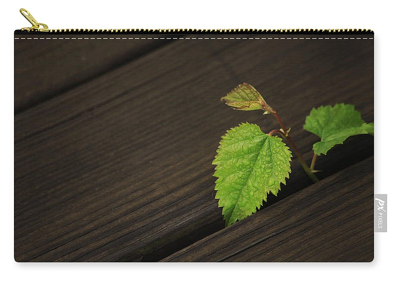 Nature Carry-all Pouch featuring the photograph Nature Finds A Way by Karol Livote