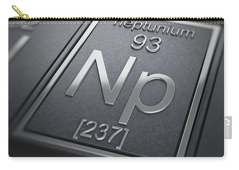 Neptunium Carry-all Pouch featuring the photograph Neptunium Chemical Element by Science Picture Co