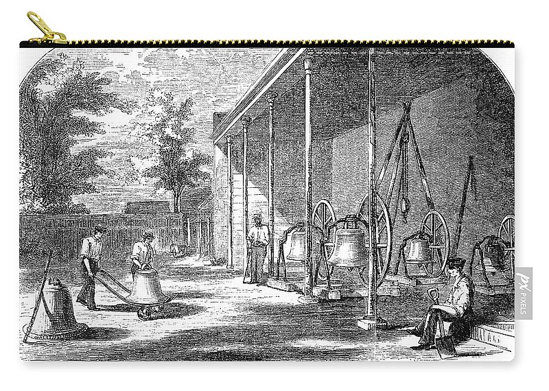 19th Century Carry-all Pouch featuring the painting New York Bell Foundry by Granger