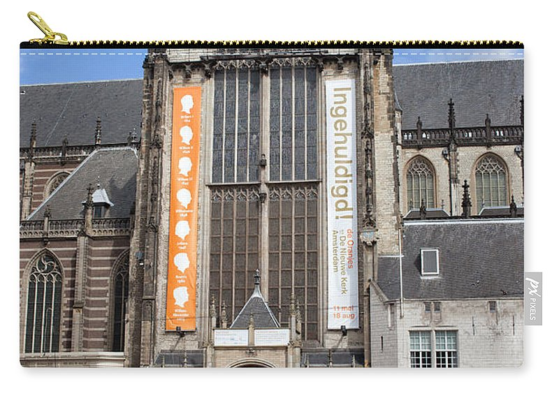 Amsterdam Carry-all Pouch featuring the photograph Nieuwe Kerk In Amsterdam by Artur Bogacki