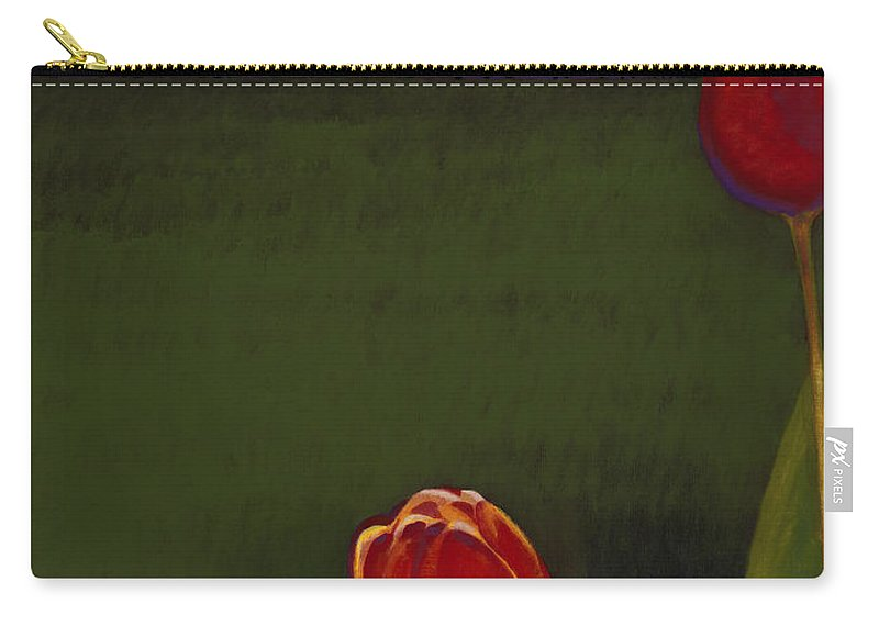 Carry-all Pouch featuring the painting Night Life by Jerome Lawrence