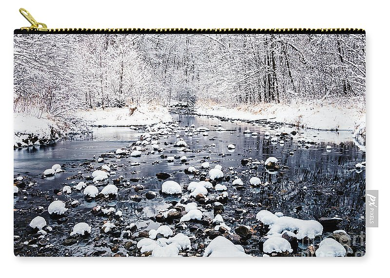 Bloomington Carry-all Pouch featuring the photograph Nine Mile Creek by Joe Mamer