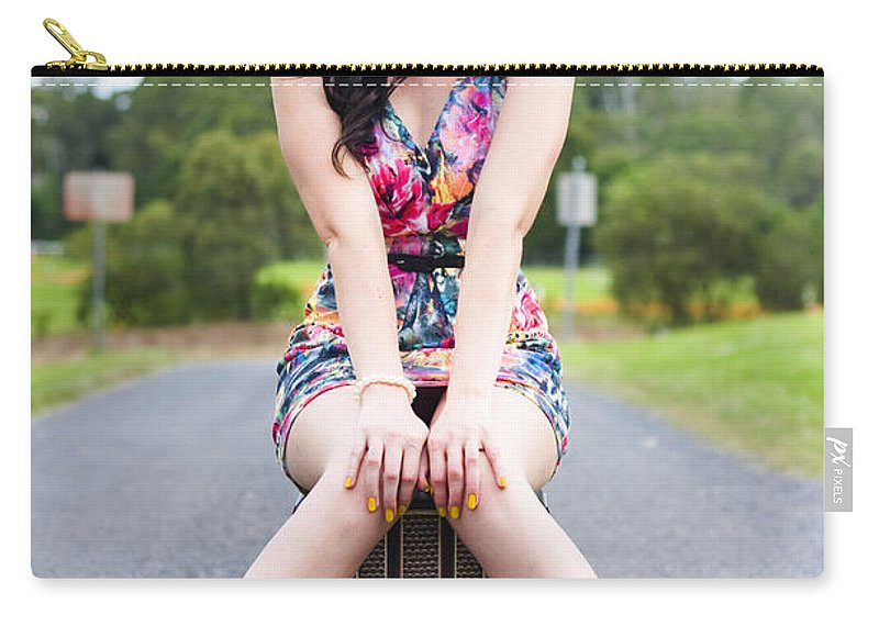 Female Carry-all Pouch featuring the photograph Nostalgic Beauty by Jorgo Photography - Wall Art Gallery