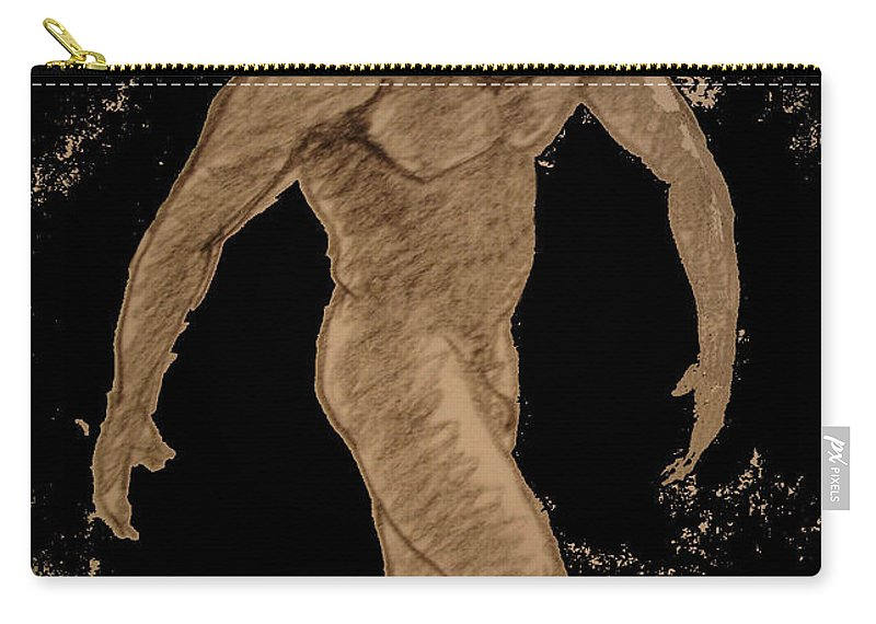 Genio Carry-all Pouch featuring the mixed media Nude Act by Genio GgXpress