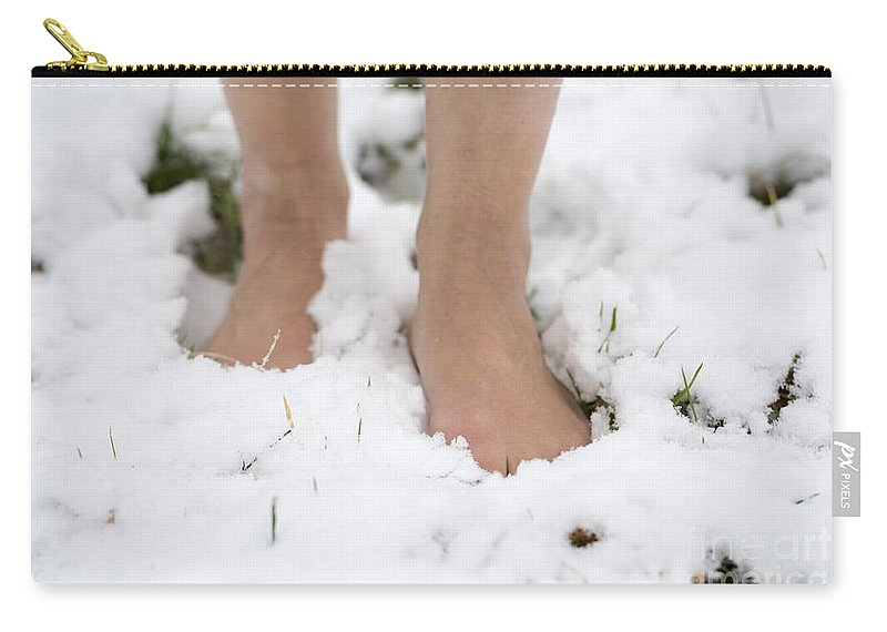 Nude Feet Carry-all Pouch featuring the photograph Nude Feet by Mats Silvan