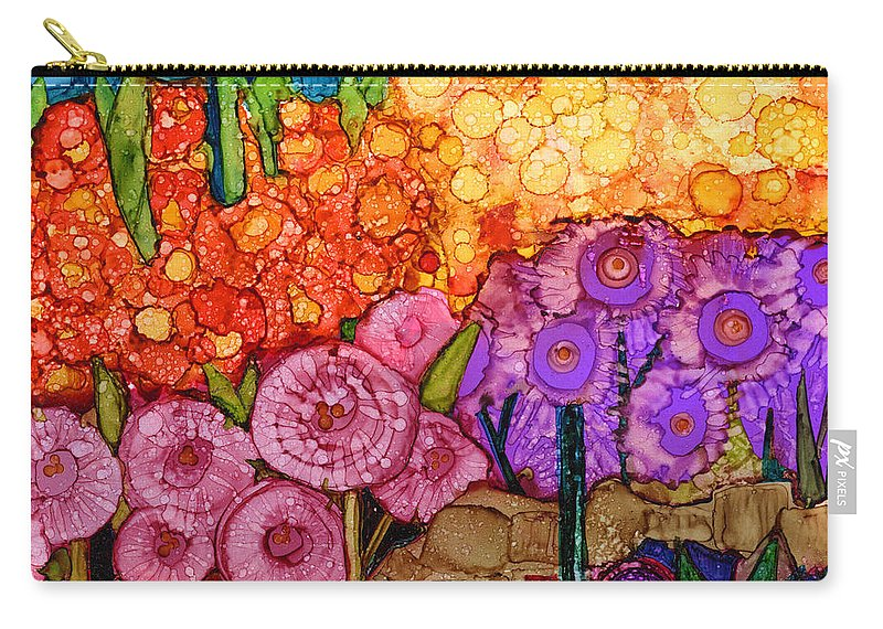 Abstract Carry-all Pouch featuring the painting Number Xii by Vicki Baun Barry