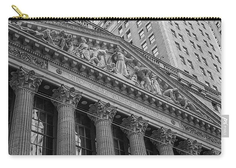 New York Stock Exchange Carry-all Pouch featuring the photograph Nyse New York Stock Exchange Wall Street by Susan Candelario
