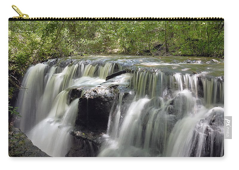 Waterfall Carry-all Pouch featuring the photograph Odom Creek Waterfall Georgia by Charles Beeler