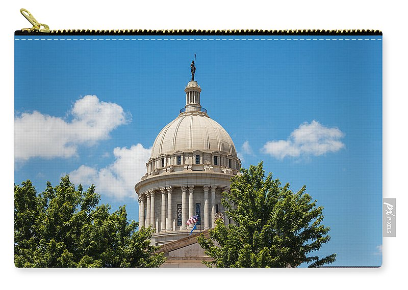 Architecture Carry-all Pouch featuring the photograph Oklahoma State Capital Dome by Doug Long