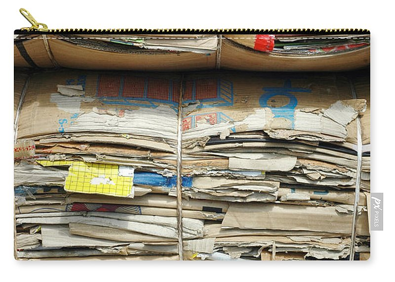 Old Carry-all Pouch featuring the photograph Old Cardboard Boxes by Antoni Halim