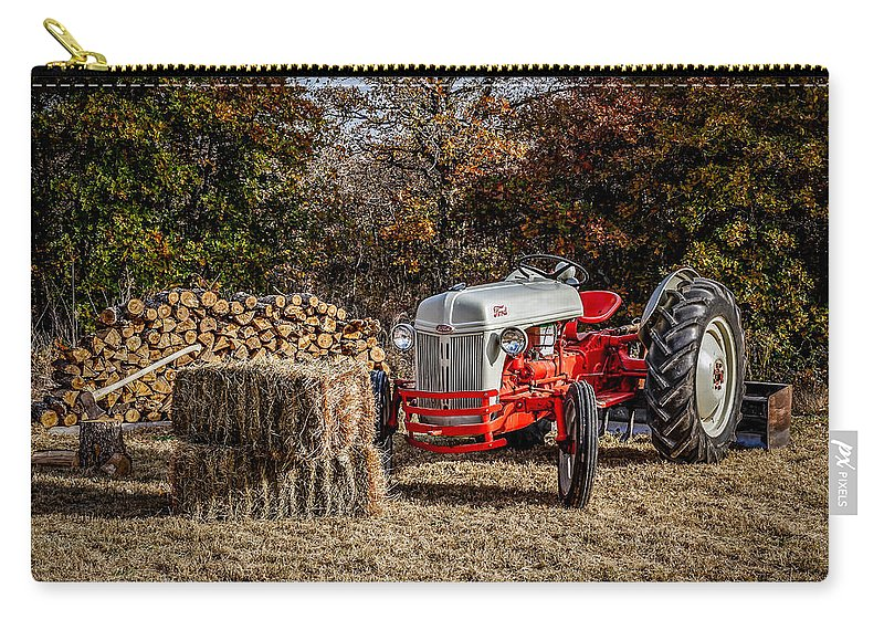 Agriculture Carry-all Pouch featuring the photograph Old Ford Tractor by Doug Long