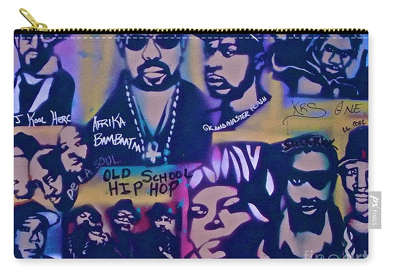Hip Hop Carry-all Pouch featuring the painting Old School Hip Hop 3 by Tony B Conscious