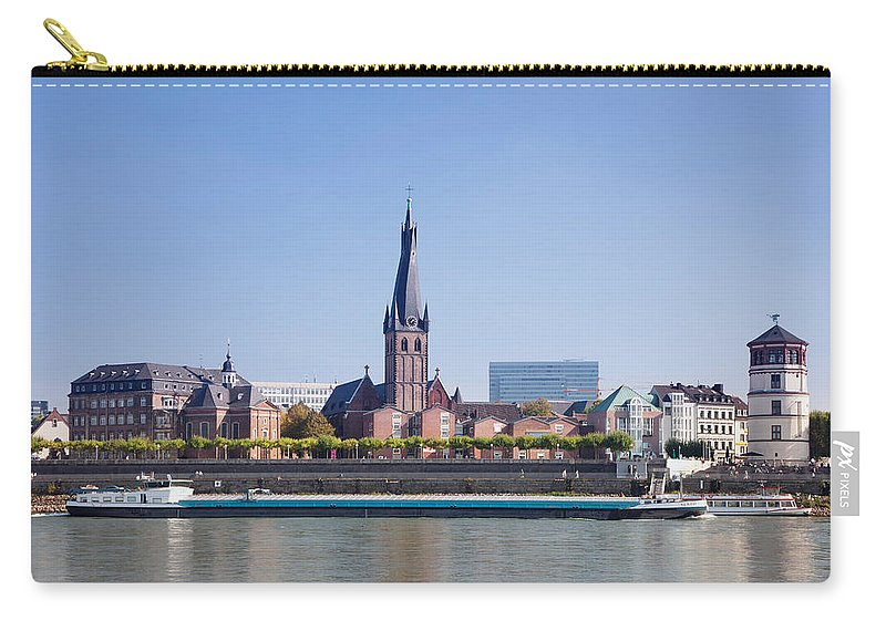 Photography Carry-all Pouch featuring the photograph Old Town With Lambertus Church by Panoramic Images
