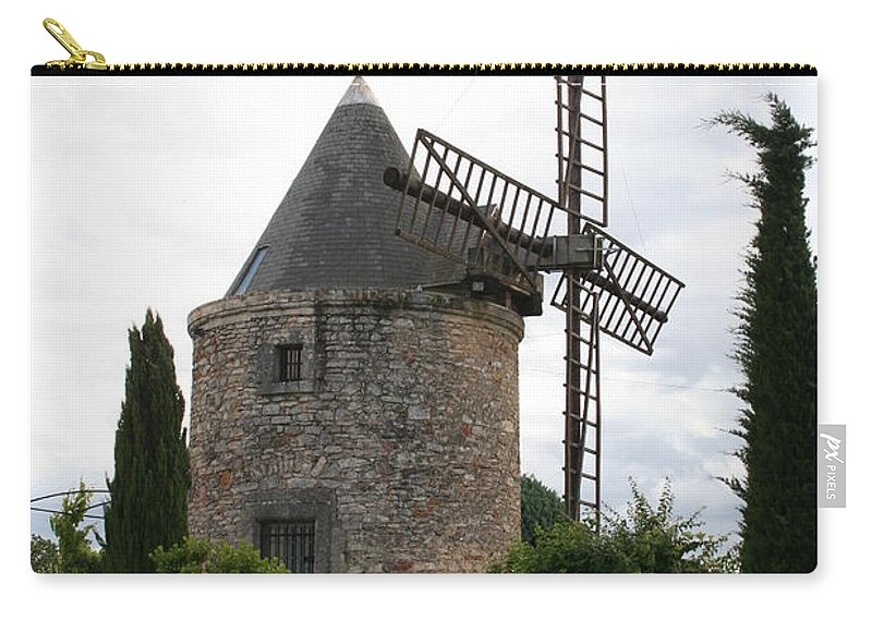 Mill Carry-all Pouch featuring the photograph Old Provencal Windmill by Christiane Schulze Art And Photography