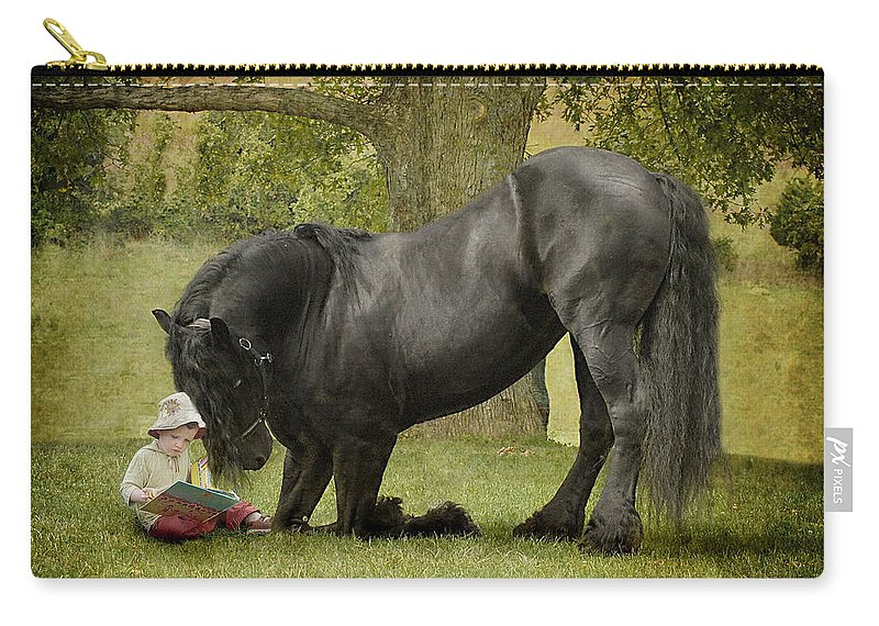 Friesian Carry-all Pouch featuring the photograph Once Upon A Time by Fran J Scott