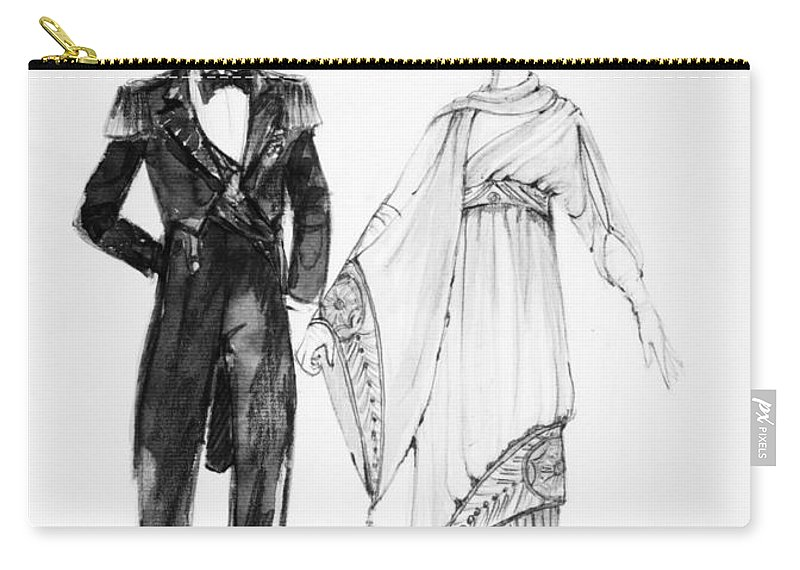 1910 Carry-all Pouch featuring the drawing Operetta Costumes by Granger