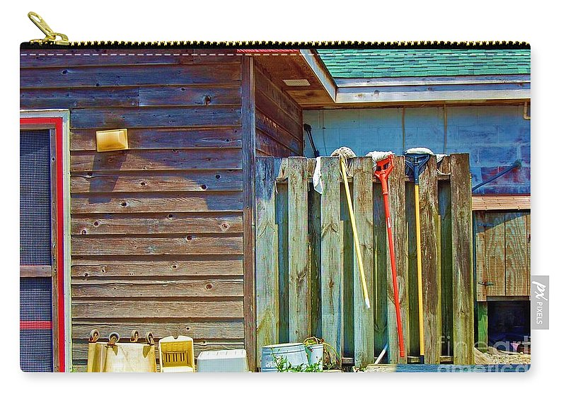 Building Carry-all Pouch featuring the photograph Out to Dry by Debbi Granruth