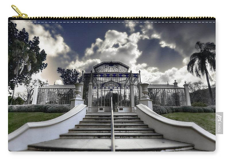 Palms Carry-all Pouch featuring the photograph Palm House by Wayne Sherriff