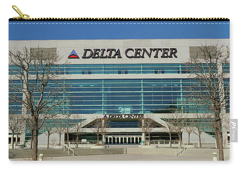 Photography Carry-all Pouch featuring the photograph Panoramic Of Delta Center Building by Panoramic Images