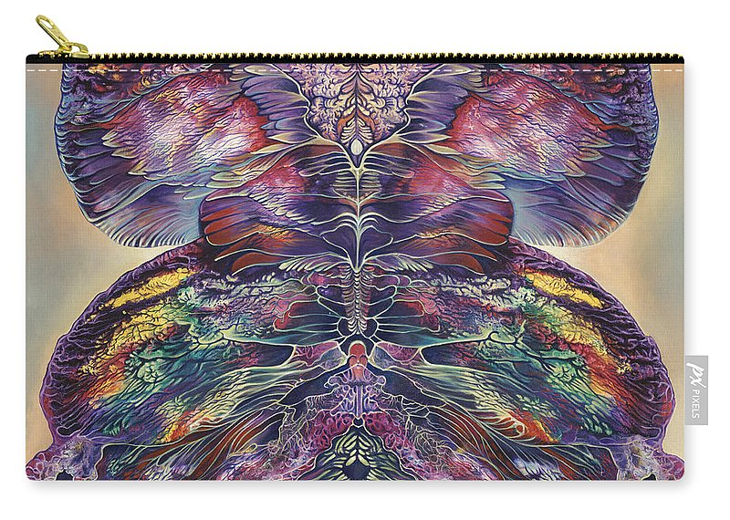 Butterfly Carry-all Pouch featuring the painting Papalotl Series 3 by Ricardo Chavez-Mendez