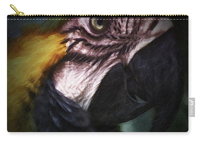 Bird Carry-all Pouch featuring the photograph Parrot 9 by Ingrid Smith-Johnsen