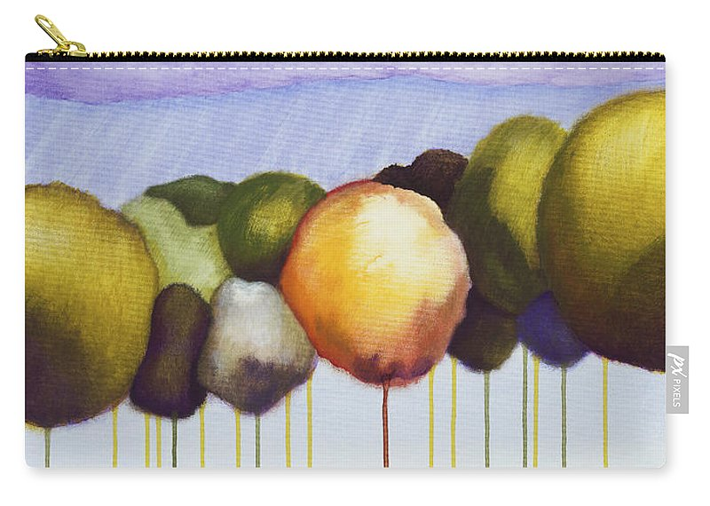 Carry-all Pouch featuring the painting Passionate Twilight Viii by Jerome Lawrence