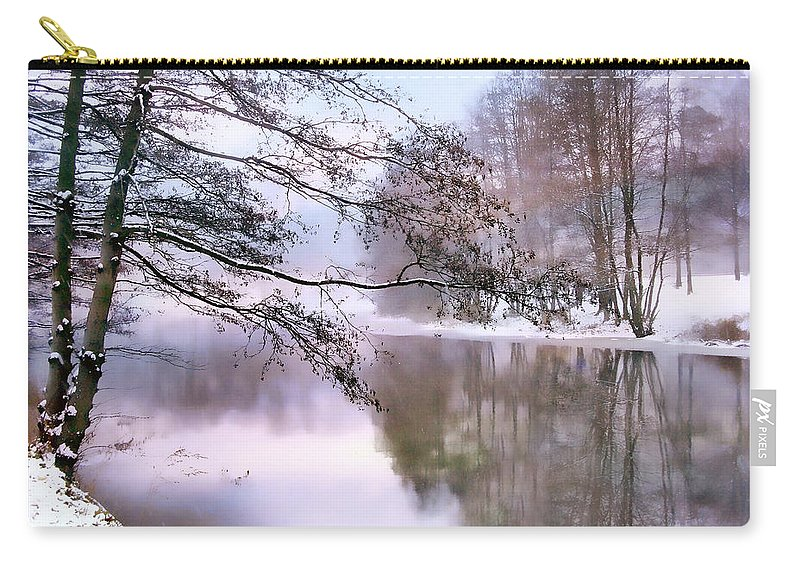 Winter Carry-all Pouch featuring the photograph Pastel Pond 2 by Jessica Jenney