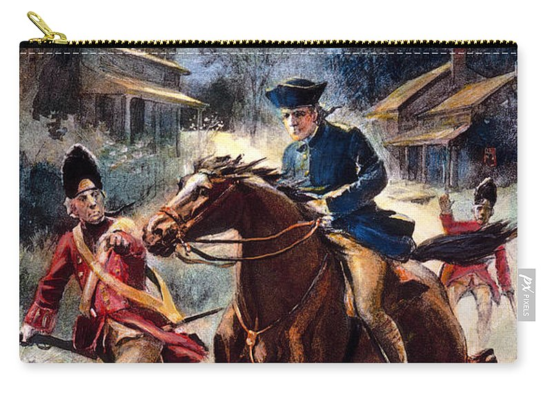 1775 Carry-all Pouch featuring the photograph Paul Reveres Ride by Granger