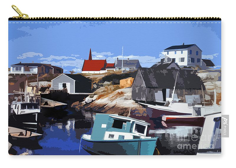 Peggy's Cove Carry-all Pouch featuring the photograph Peggy's Cove by Lydia Holly
