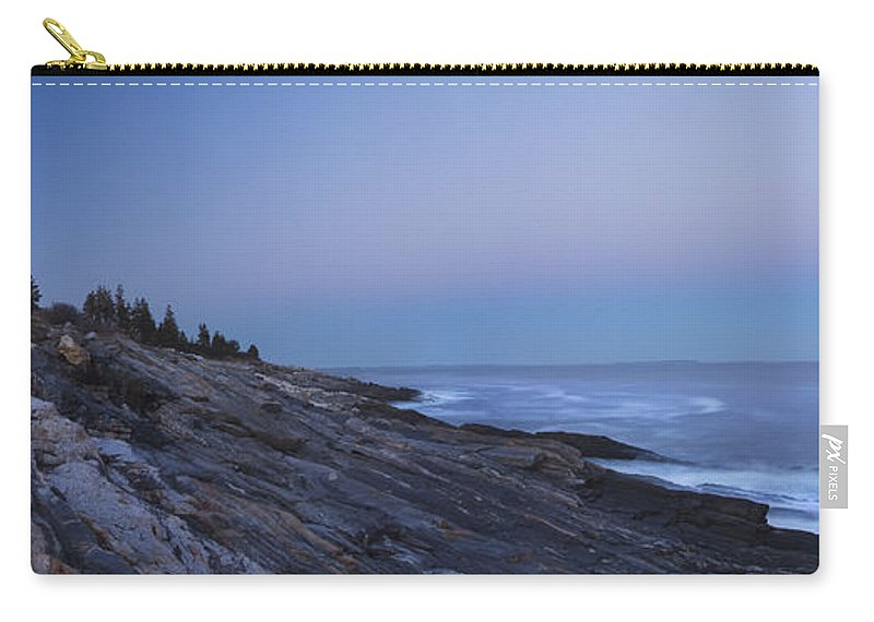 Pemaquid Point Lighthouse Carry-all Pouch featuring the photograph Pemaquid Point Lighthouse On The Maine Coast by Keith Webber Jr
