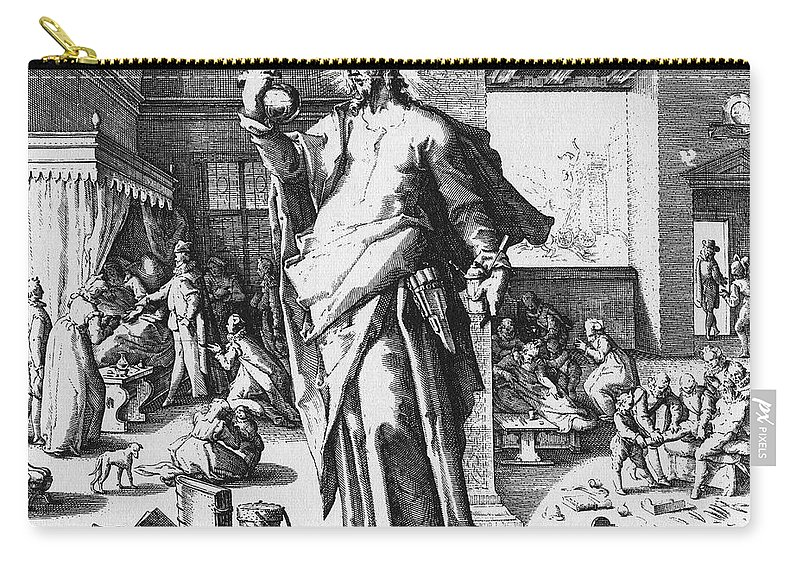 1587 Carry-all Pouch featuring the photograph Physician As God by Granger