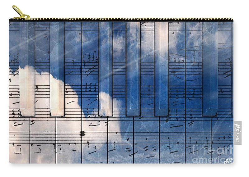 Music Carry-all Pouch featuring the digital art Piano by Bruno Haver