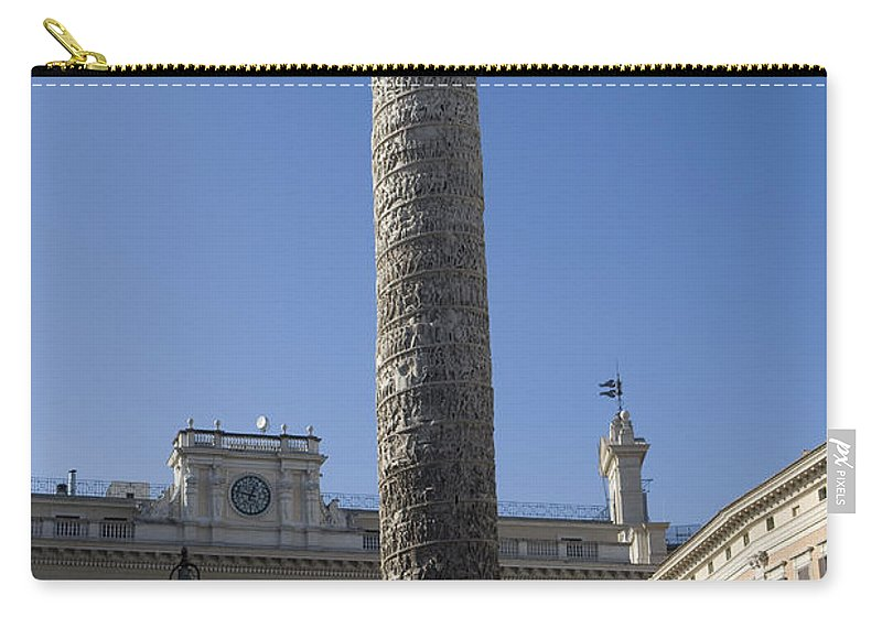 Travel Carry-all Pouch featuring the photograph Piazza Colonnai Rome by Jason O Watson