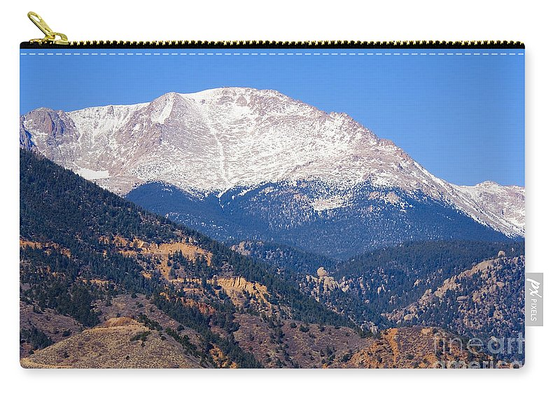 New Carry-all Pouch featuring the photograph Pikes Peak by Steve Krull