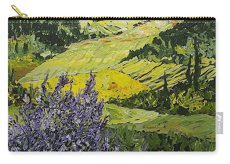 Landscape Carry-all Pouch featuring the painting Pleasant Heart by Allan P Friedlander