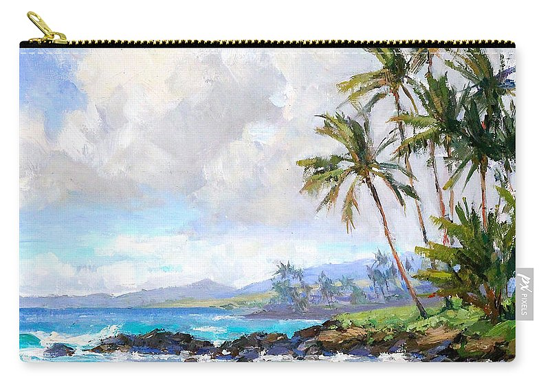 Poipu Carry-all Pouch featuring the painting Poipu Beach #1 by Jenifer Prince