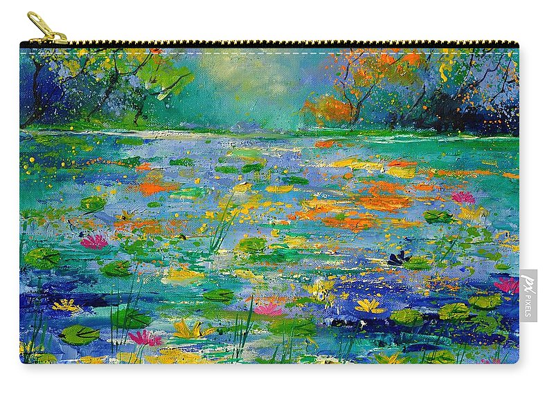 Landscape Carry-all Pouch featuring the painting Pond 454190 by Pol Ledent