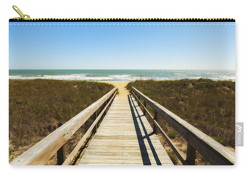 Atlantic Ocean Carry-all Pouch featuring the photograph Ponte Vedra Beach by Raul Rodriguez