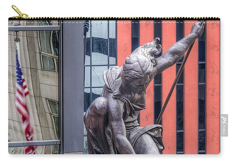 Urban Perspectives Carry-all Pouch featuring the photograph Portlandia by Jean Noren