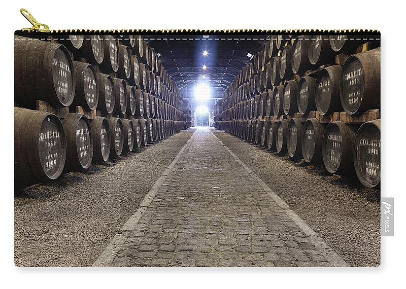 Fermenting Carry-all Pouch featuring the photograph Porto Wine Cellar by Vuk8691
