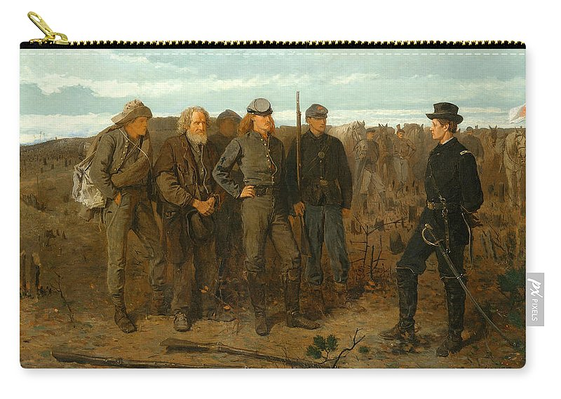Winslow Homer Carry-all Pouch featuring the painting Prisoners From The Front by Winslow Homer