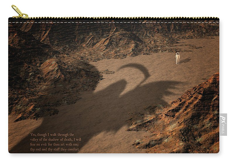 Valley Carry-all Pouch featuring the digital art Psalm by Carol and Mike Werner