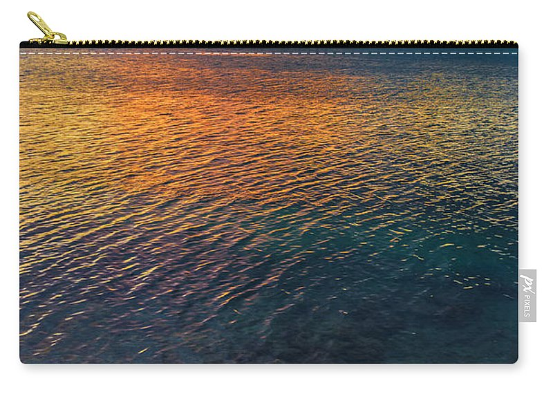 Calm Carry-all Pouch featuring the photograph Purple And Orange Sunset by Jess Kraft