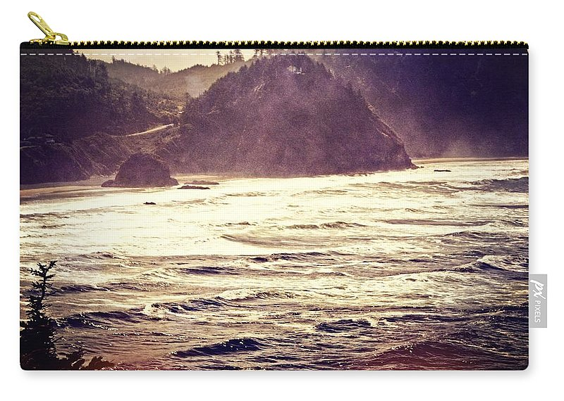 Ocean Carry-all Pouch featuring the photograph Purple Haze by Marty Koch