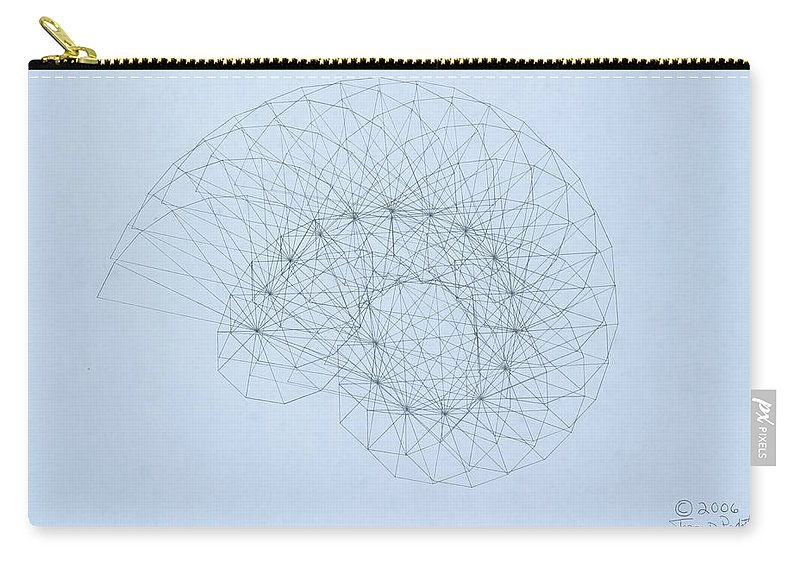 Jason Padgett Carry-all Pouch featuring the drawing Quantum Nautilus by Jason Padgett