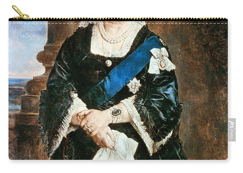 1883 Carry-all Pouch featuring the painting Queen Victoria Of England (1819-1901) by Granger