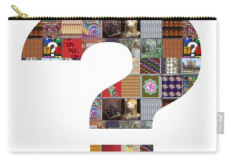 Question Carry-all Pouch featuring the painting Question Symbol Showcasing Navinjoshi Gallery Art Icons Buy Faa Products Or Download For Self Printi by Navin Joshi