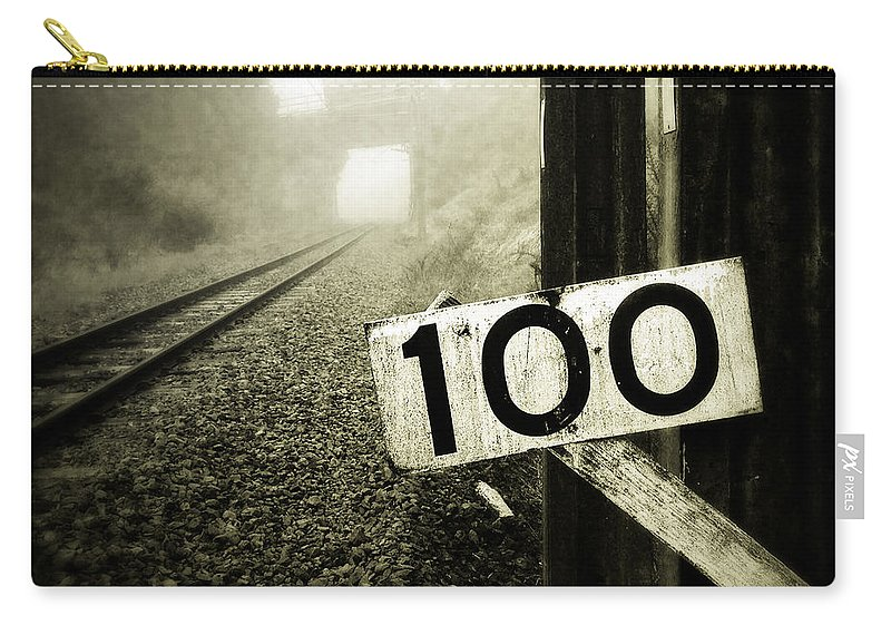 Industry Carry-all Pouch featuring the photograph Railway by Les Cunliffe