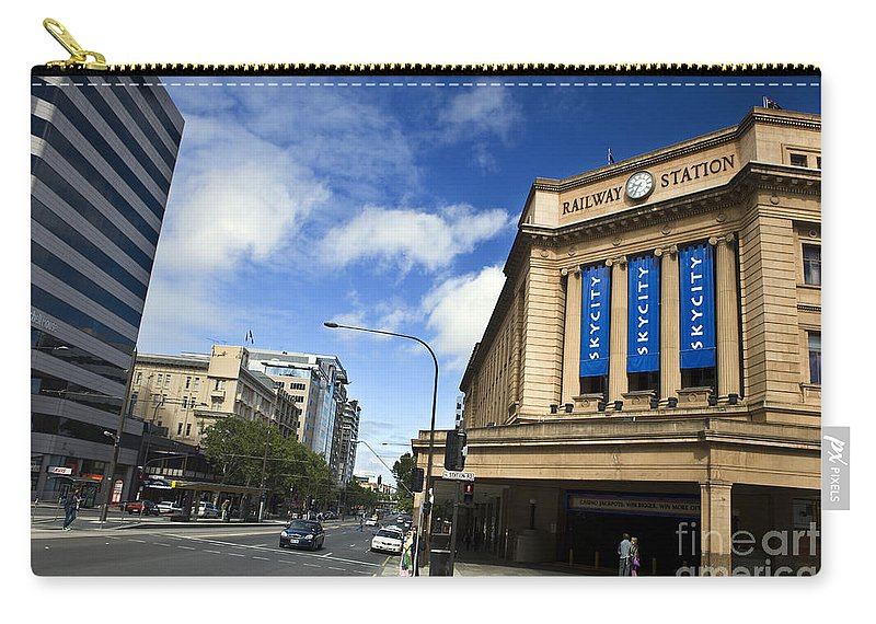 Travel Carry-all Pouch featuring the photograph Railway Station Adelaide by Jason O Watson