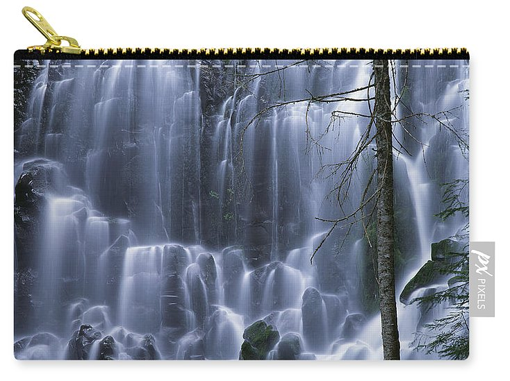 Americana Carry-all Pouch featuring the photograph Ramona Falls by Jim Corwin